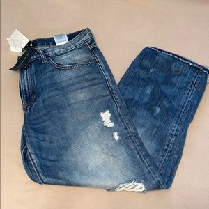 Brand new boyfriend cut distressed jeans